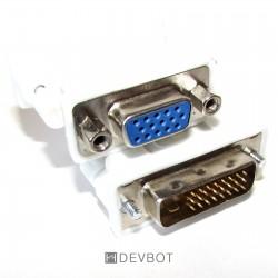 Adaptateur DVI D mâle / VGA...