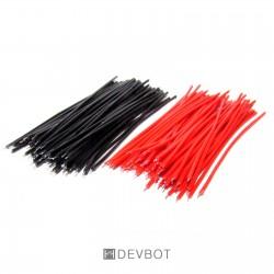 100x câbles 50mm Rouge et Noir