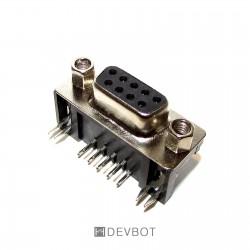 Connecteur RS-232 DB9 90°...