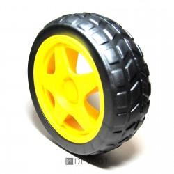 Roue 66x26mm jaune