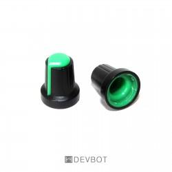 Bouton Vert pour potentiomètre