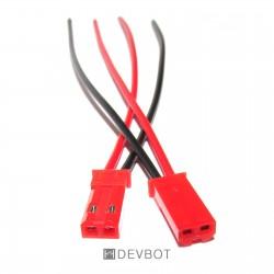 Connecteur JST Mâle + câbles