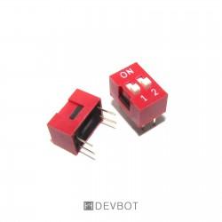Interrupteur DIP 2 positions