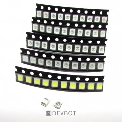 Kit 50 LED CMS 3528 - 10 x...